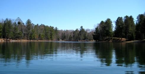 Nearing Mermaid Bay on Blue Lake